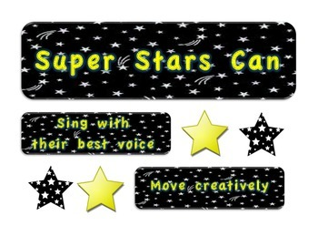Super Stars Music Behavior Chart