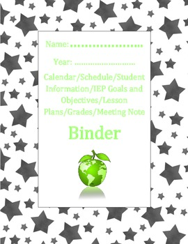 Super Stars Teacher Binder Dividers