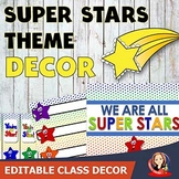 Super Stars Theme Back to School Decor, Gifts, Activities