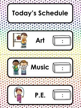 Super Stars Theme Calendar and Class Schedule Editable