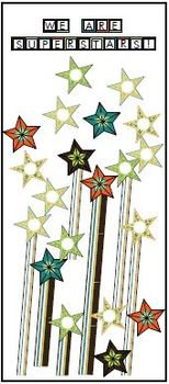 Super Stars printable activities door theme decor