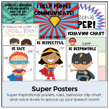 Super Start to Speech (Back to School Posters and Activities)