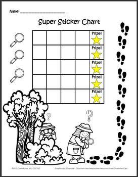 Super Sticker Chart Detectives Pack