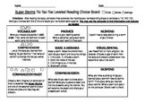 Super Storms Choice Board- Differentiation