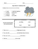 Super Storms- Comprehension & Vocabulary Test (Journeys)
