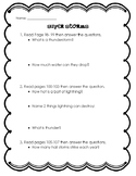 Super Storms Comprehension Worksheet