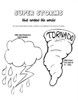 Super Storms Guided Reading Packet