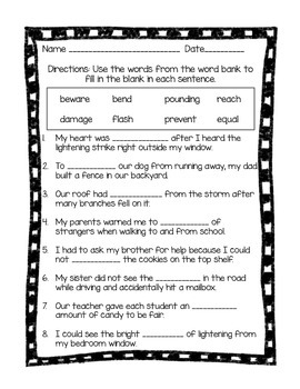 Super Storms Journeys 2nd Grade (Unit 2, Lesson 8) Activities