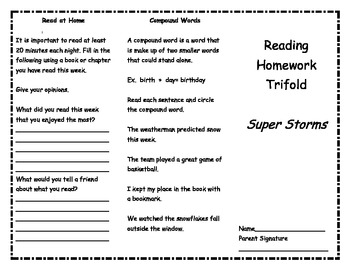 Super Storms Reading Trifold