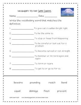 Super Storms Supplemental Activities 2nd Grade Journeys Unit 2, Lesson 8