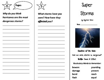 Super Storms Trifold - Journeys 2nd Grade Unit 2 Week 3 (2014, 2017 Common Core)