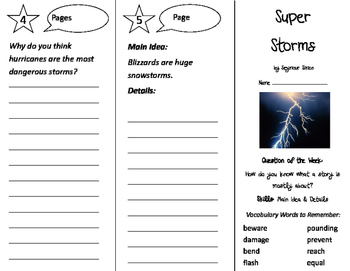 Super Storms Trifold - Journeys 2nd Grade Unit 2 Week 3 (2011)