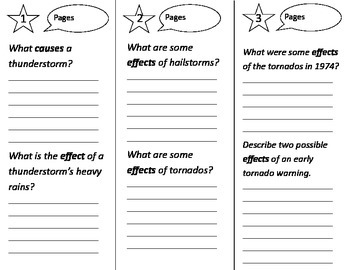 Super Storms Trifold - Treasures 2nd Grade Unit 4 Week 3 (2009)