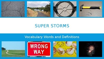 Super Storms Vocabulary Words and Definitions.