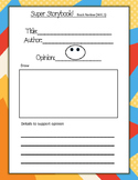 Super Storybook Opinion Graphic Organizer