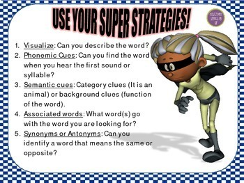 Super Strategies for Word Retrieval FALL THEME