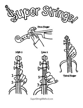 Super Strings Coloring Pages