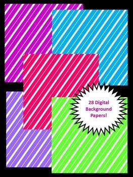 Super Stripes - Digital Background Paper