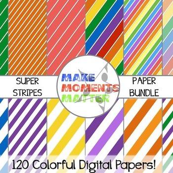 Super Stripes Seller Set  --  A Digital Paper Bundle!