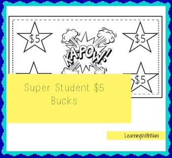 Super Student $5 Reward Bucks