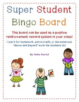 Super Student Bingo Board! A Positive Reinforcement Classroom Tool