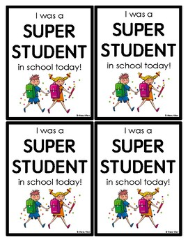 Super Student & Goal Setting - Brag Tags