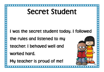 Secret Student Certificates