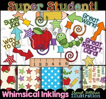 Super Student Clipart and Papers