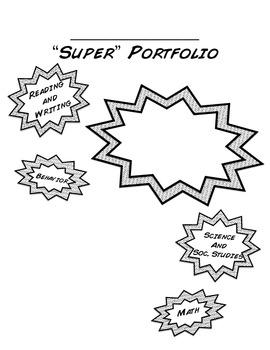 """Super"" Student Portfolio Cover and Dividers"