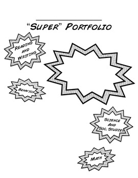 """Super"" Student Portfolio Cover and Dividers"