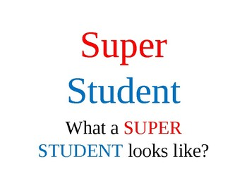 Super Student Poster
