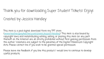 Super Student Take Home Tickets