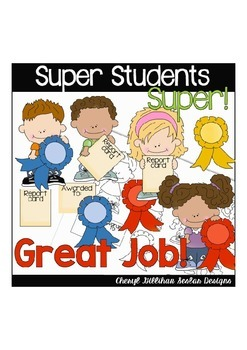 Super Students Clipart Collection