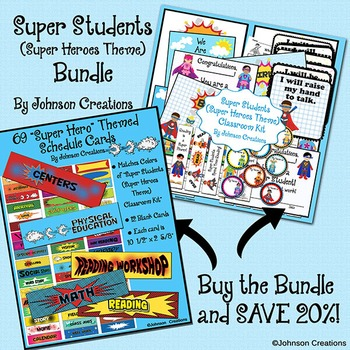 Super Students (Super Heroes) Bundle-SAVE 20%