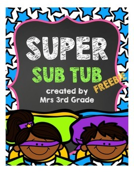 Super Sub Tub FREEBIE!!