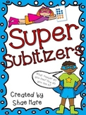 Super Subitizers {Number Sense} Work Station Subitize Common Core Math Flash