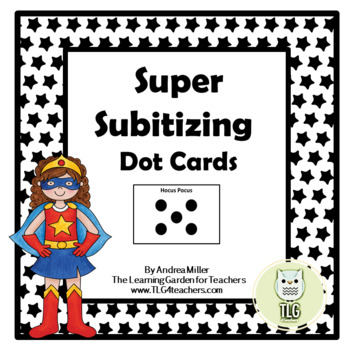 Super Subitizing Dot Cards