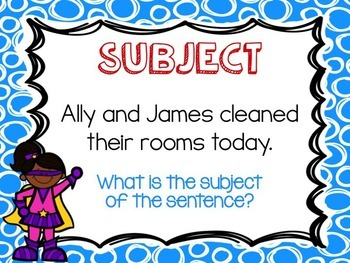 Super Subjects PowerPoint and Worksheet
