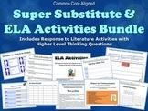 Super Substitute Teacher ELA Activities Bundle