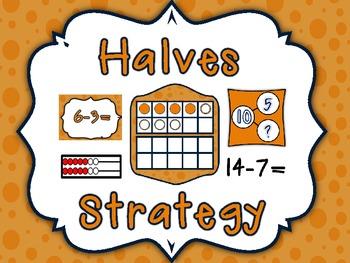 Super Subtraction Halves Strategies Resources