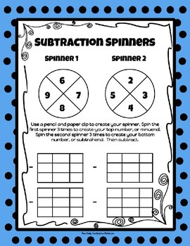 Super Subtraction Pack: PowerPoint, Games, and Printables!