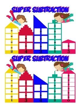 Super Subtraction game! Superhero subtraction game.