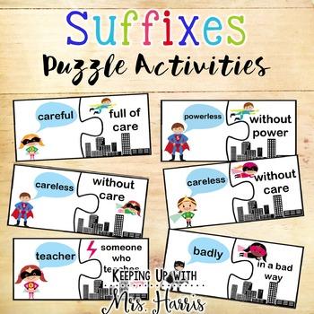 Suffix - Suffix Puzzle Activity