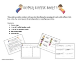 Super Suffix Sort 1 (-ful, -less, -wise, -ly, -ness)