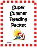 Super Summer Reading Packet:  Bingo, Bookmarks, Reading Lo