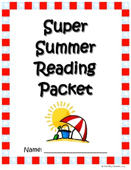 Super Summer Reading Packet:  Bingo, Bookmarks, Reading Lo