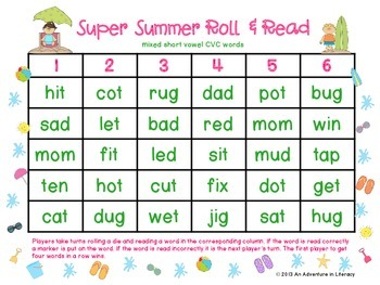 Super Summer Roll & Read Bonus Pack-26 games