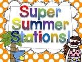 Super Summer Station Activities! {Math and Literacy Fun}