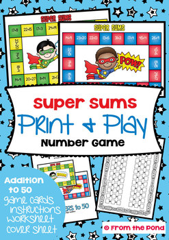 Super Sums - Math Center Game for Two Digit Addition