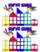 Super Sums addition game! Superhero addition game.